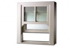 White Vertical Sliding UPVC Window, For Residential, Thickness Of Glass: 6 Mm