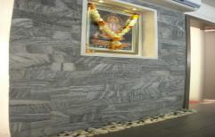 Black Interior Stone Wall Cladding Tiles