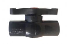 Black PVC Short Handle Ball Valve, Size: 3/4 Inch