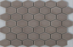 Brown Wall Cladding New Hexagon Mosaic Tiles, Thickness: 6 - 8 mm, Size: 30x30