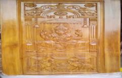 Teak Wood Carved Door