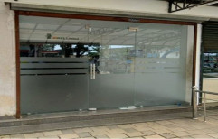 Frosted Glass Swing Office Entrance Glass Door