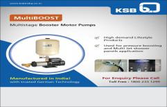 KSB 3 Hp BOOSTER PUMP, For Commercial, Model Name/Number: Multiboost