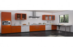 Modern Straight Line Modular Kitchen