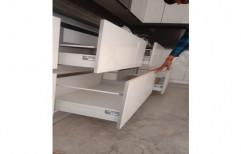 Modern White Modular Wooden Kitchen Drawer