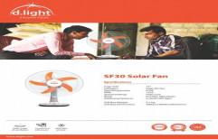 Plastic/Fibre Sf 30 Solar Fan, Fan Color: Orange