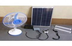 Plastic/Fibre Solar Table Fan, Blue,White, 20 W