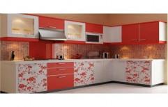 PVC Residential L Shaped Modular Kitchen, Warranty: 5-10 Years