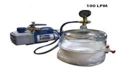 Single Phase 100 LPM Portable Rotary Vane Vacuum Pump, For Laboratory