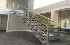 Stainless Steel Round Floating Staircase