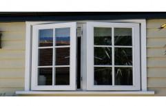 White UPVC Casement Windows, Glass Thickness: Upto 5mm