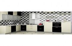 Wood Modular Kitchen, Shape: L