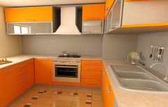 Wooden U Shape Modular Kitchen, Warranty: 1 Year, In Pune