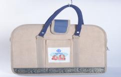 Zipper Blue Executive Jute Bag, Capacity: 5-8 Kg