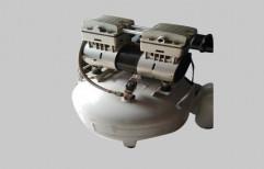 1 HP Dental Oil Free Air Compressor, Air Tank Capacity: 35L
