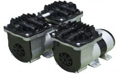 Aluminium Single stage Oil Less Diaphragm Vacuum Pumps, 20 W