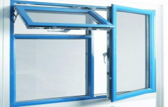 Blue Powder Coated Aluminium Casement Window
