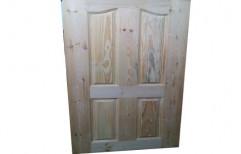 Brown Exterior 4 Panel Pine Wood Door, Size/Dimension: 7 (h) X 3 (w) Feet