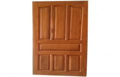 Brown Finished Teak Wood Panel Door, Thickness: 32-45 Mm