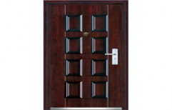 Brown Powder Coated Stainless Steel Entrance Door, Thickness: 90 Mm, Size/Dimension: 7 Feet