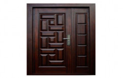 Coffee Brown Powder Coated SRK 189 Stainless Steel Entrance Door