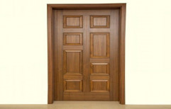 Exterior Teak Wood Brown Wooden Panel Doors, For Home
