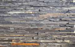 Grey Plain Designer Stone Wall Cladding