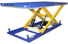 Mild Steel Electric Platform Scissor Lift, For Industrial, Table Size: 1300 Mm