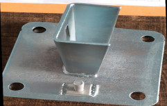 Ms Steel Solar Panel Stand Base Plate