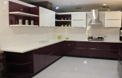 Plywood L-Shape Modular Kitchen