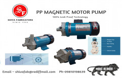 Polypropylene SHIVA'S PP MAGNETIC MOTOR PUMP, 5100 Ltr Pr Hr, Model Name/Number: SFMD-85