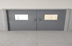 Powder Coated Industrial metal doors, Thickness: 46mm, Material Grade: Galvanised Iron