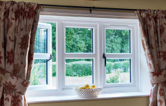 Quality Windows White UPVC Casement Window, For Residential and commercial, Thickness Of Glass: 5-10 Mm