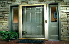 Silver Polished Aluminium Door, Single, Thickness: 10-20 Mm