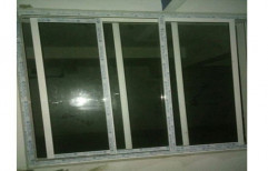 Sliding UPVC Glass Window, Thickness Of Glass: 3-5 Mm