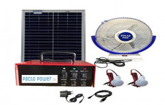 Solar Home Light Complete Set with 60Ah Li-Po4 Battery and 250W Solar Panel for Saubhagya Scheme