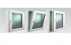 White UPVC Tilt And Turn Window, Glass Thickness: 6 Mm