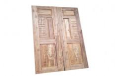 Wooden Exterior Teak Wood Double Door
