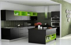 Wooden Italian Modular Kitchen, Warranty: 5-10 Years, Kitchen Cabinets