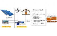2 Battery Solar Inverter System, Capacity: 1600W