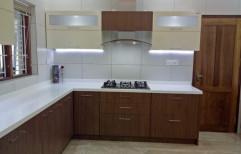 710 grade Marine Ply L Shape Modular Kitchen