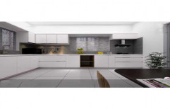 Artificial Marble WPC,Multi Wood L Shaped Modular Kitchen, Drawer Slide