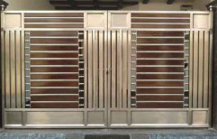 Black And Brown Stainless Steel Gate