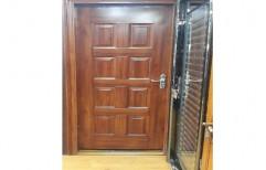 Brown Hinged Wooden Door