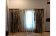 D Shades 7-8 Feet Printed Window Curtain