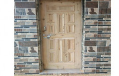 Finished Sal Wood Exterior Wooden Hinged Door, for Home