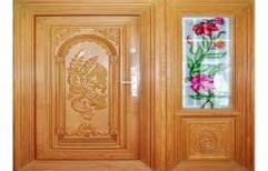Interior Designer Teakwood Door, Size: 7 - 8 Feet (Height)