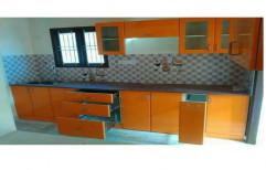 L Shape Plywood Modular Kitchen
