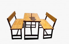 Laxmi furnitech Stainless Steel,Marble Dining Set LDS - 405, Size: Standard