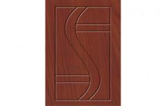 Met Glossy Brown Laminated Designer Doors, For Home